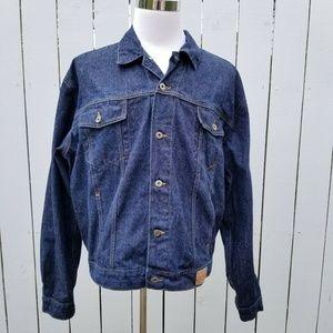 Guess Mens XXL Denim Jacket Vintage 90s Dark Wash